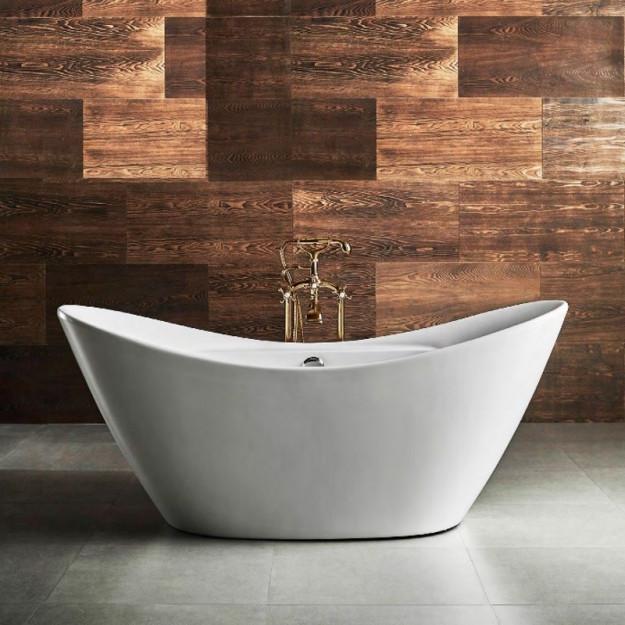 Vasca da bagno freestanding 170 x 78 cm pleiadi 170 x 78 - Lunghezza vasca da bagno ...