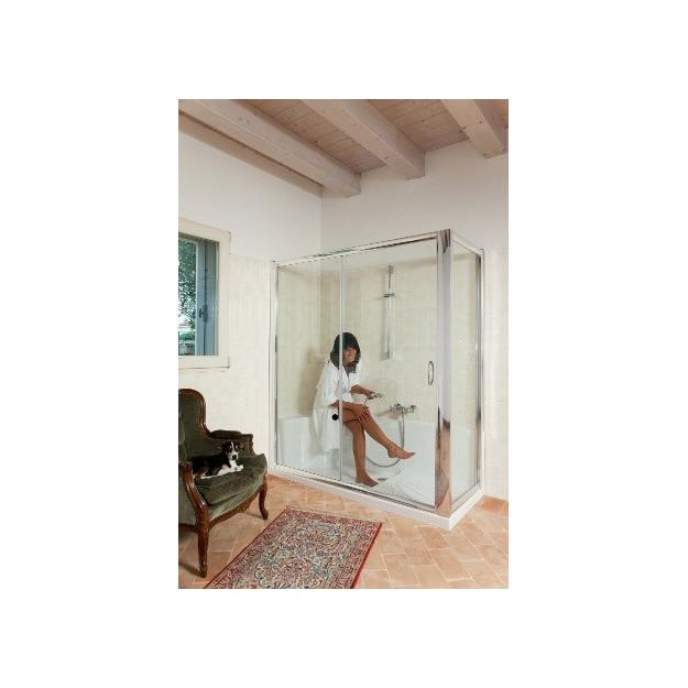 Kit cabina piatto doccia vetro temprato 170x70cm for Kit di cabina e cottage
