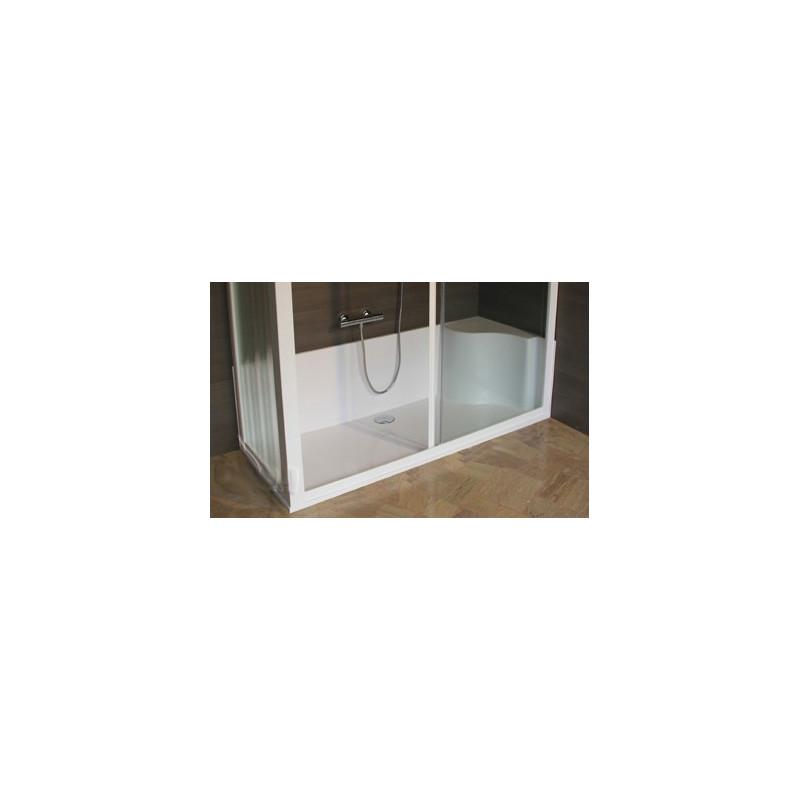 Kit cabina e piatto doccia 170 x 70 per sostituzione vasca in offerta - Vasca da bagno in vetro ...