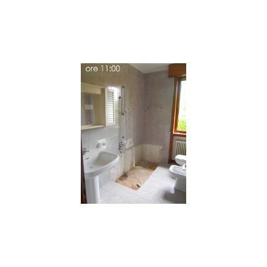 Kit cabina e piatto doccia 170 x 70 per sostituzione vasca for Kit di cabina e cottage