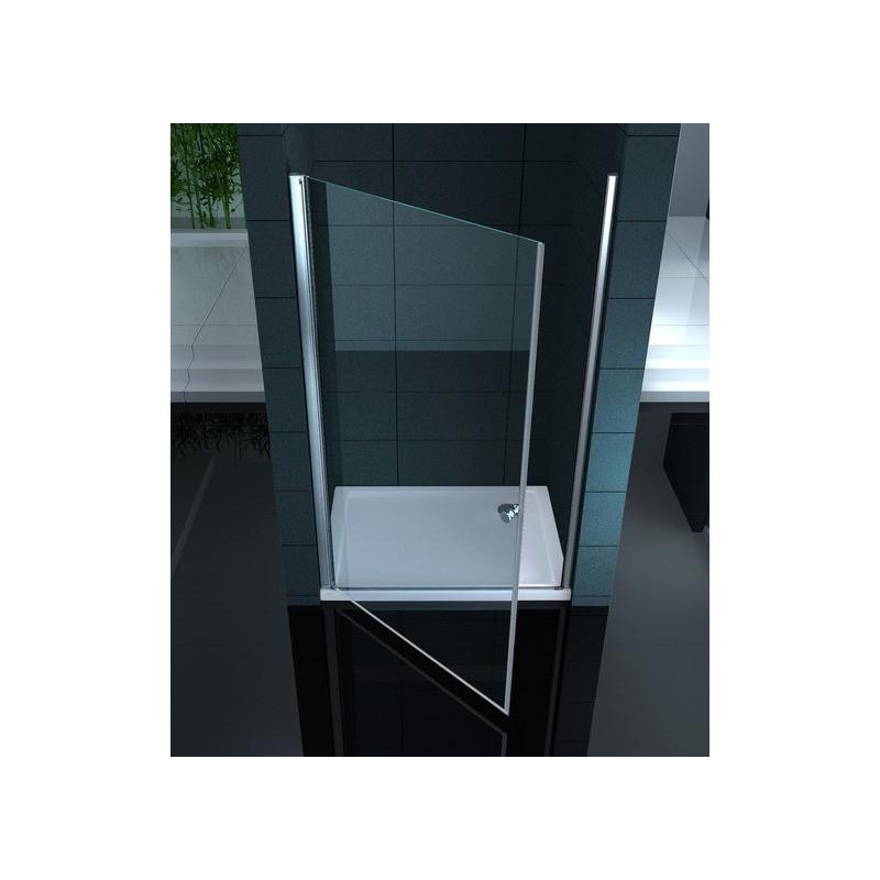 Porta battente per nicchia in vetro 6mm di spessore for Porta vetro battente