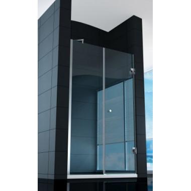 Parete doccia super lusso con porta battente - vetro da 8mm