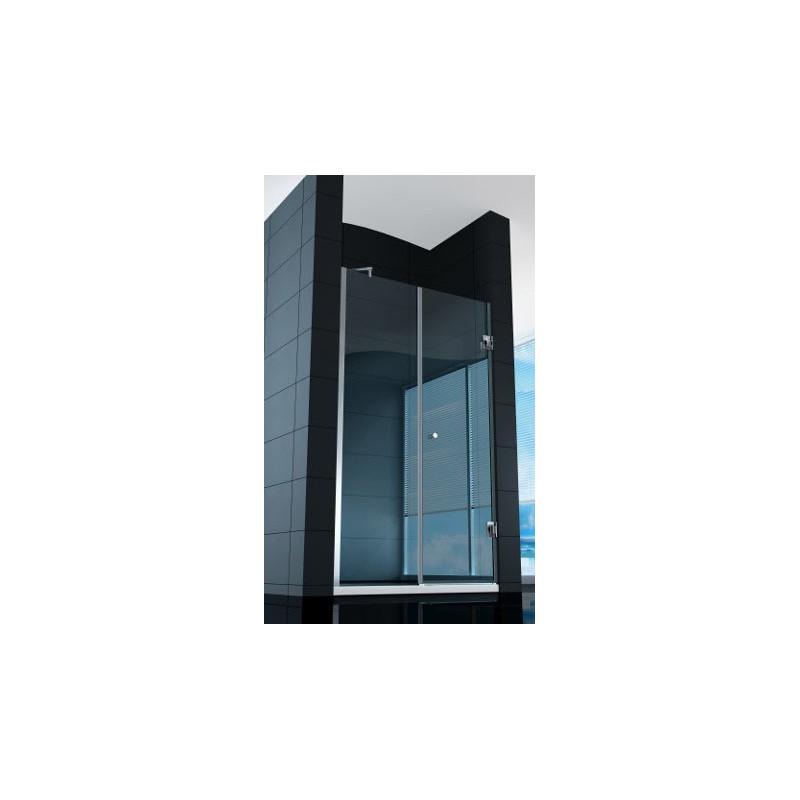 Parete doccia superlusso con porta battente in vetro in for Porta vetro battente