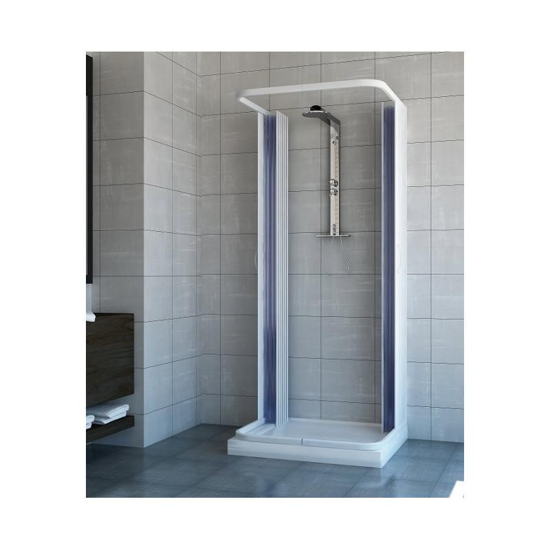 Cabina doccia estensibile 3 lati in pvc diverse misure - Cabina doccia prezzo ...