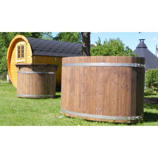 Vasca per esterno tinozza in legno abete ovale rotonda - Finestra ovale e finestra rotonda ...
