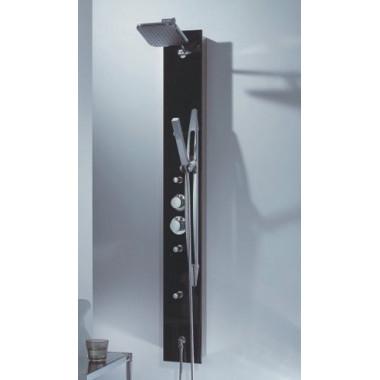 Pannello doccia idromassaggio in alluminio e vetro 145 x 18cm sconto fine serie