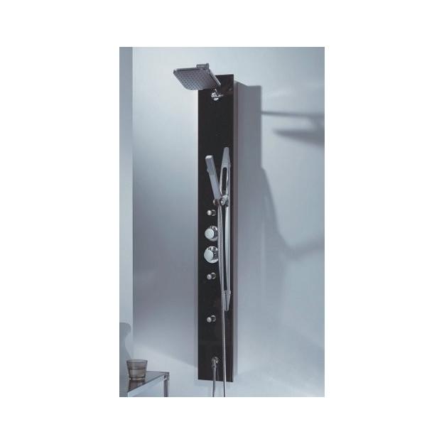 Pannello doccia in alluminio e vetro 145 x 18cm