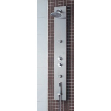 Pannello doccia in alluminio satinato 160 x 22cm