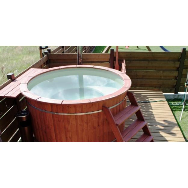 Tinozza vasca per esterno in legno rivestimento polietilene