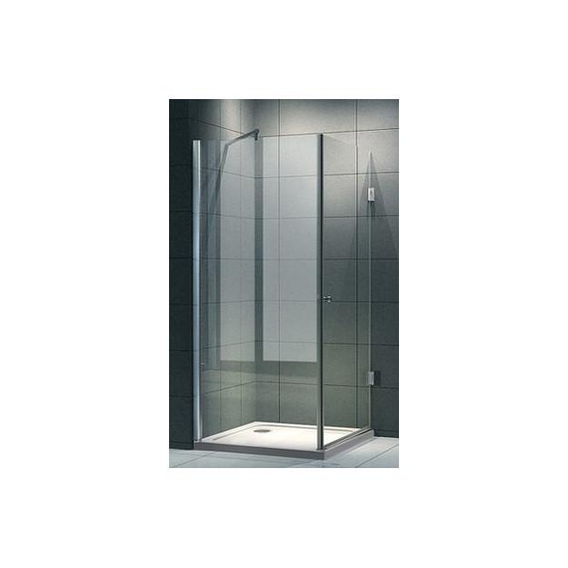 Cabina doccia anta battente quadrata vetro 8 mm a poco prezzo - Cabina doccia prezzo ...