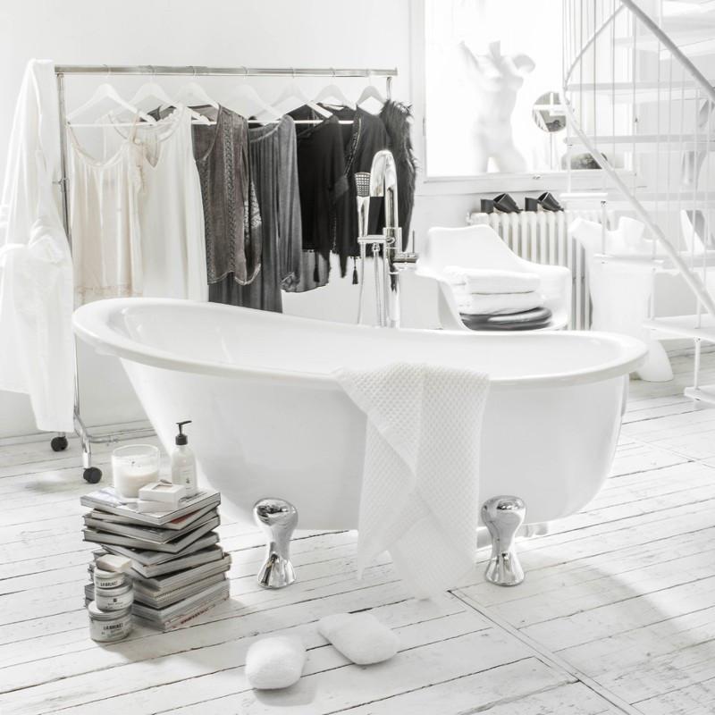 Vasca da bagno con piedini stile retr buon prezzo 165 x - Vasca da bagno immagini ...
