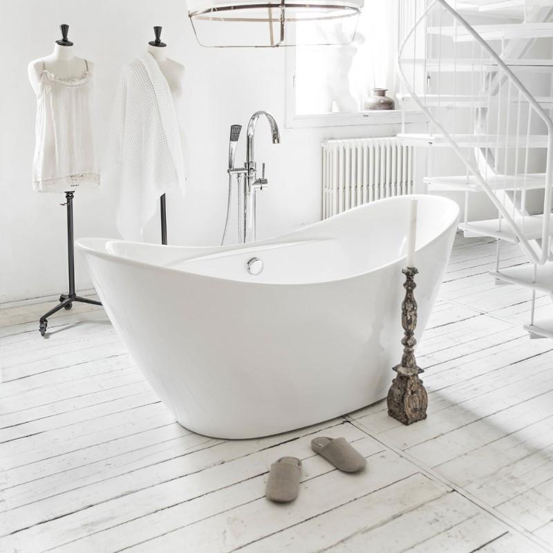 Vasca da bagno freestanding 170 x 80 cm pleiadi al miglior prezzo - Vasca da bagno immagini ...