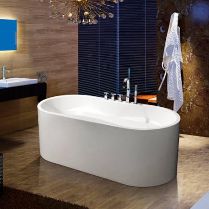 Vasca da bagno freestanding 170x80 fenice rubinetteria - Vasca da bagno freestanding ...