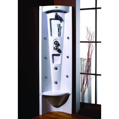 Pannello doccia idromassaggio angolare con seduta