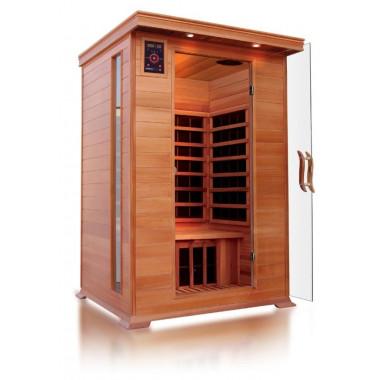 Sauna ad infrarossi a pannelli di carbonio per 2 persone con cromoterapia