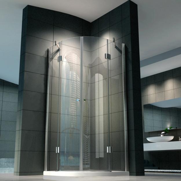 Box doccia semicircolare lusso vetro 8 mm varie misure - Vetri per doccia ...