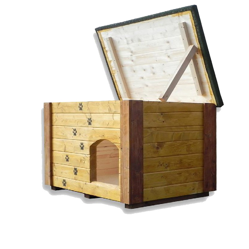 Cuccia da esterno in legno di alta qualit per cani con for Cucce per cani da esterno riscaldate