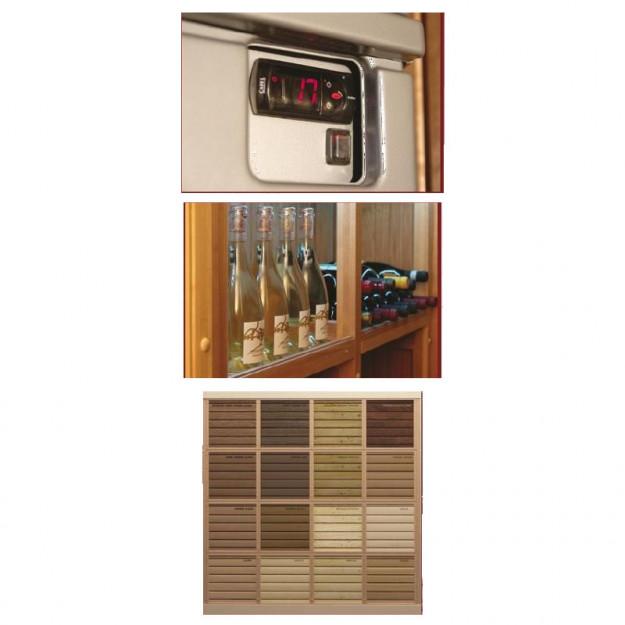 possibilità di personalizzazione di finiture, materiali, illuminazione, riscaldamento e umidificazione