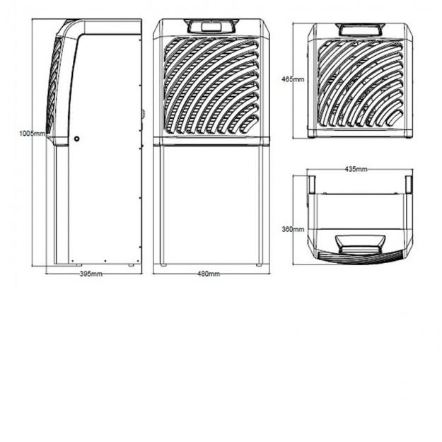 Climatizzatore per cantine split dotato di unit interna - Unita esterna condizionatore dimensioni ridotte ...