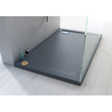Piatto doccia in acrilico effetto pietra ardesia rinforzato