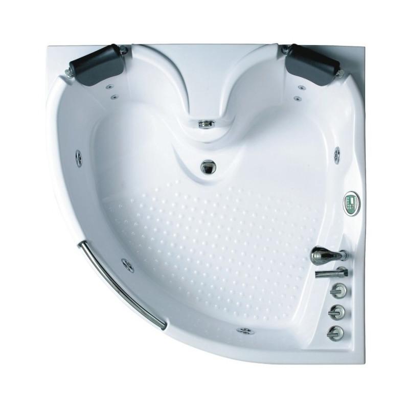 Vasca idromassaggio angolare per 2 persone 155 x 155 cm for Vasca per tartarughe grandi