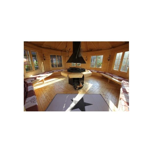 Gazebo in legno da giardino ottagonale per 21 for Piani per gazebo con camino
