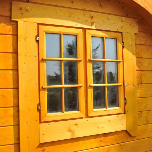 Gazebo in legno da giardino campeggio a botte 4x2 4m offerta speciale - La finestra sul giardino ...