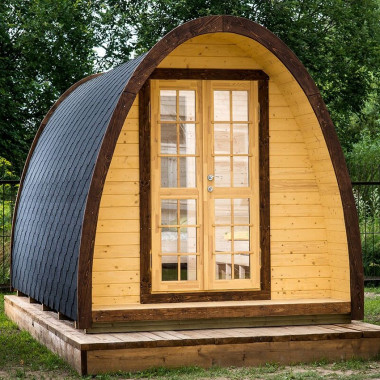 Gazebo in legno casetta bungalow da giardino iglu 9,3mq 4,8x2,4m