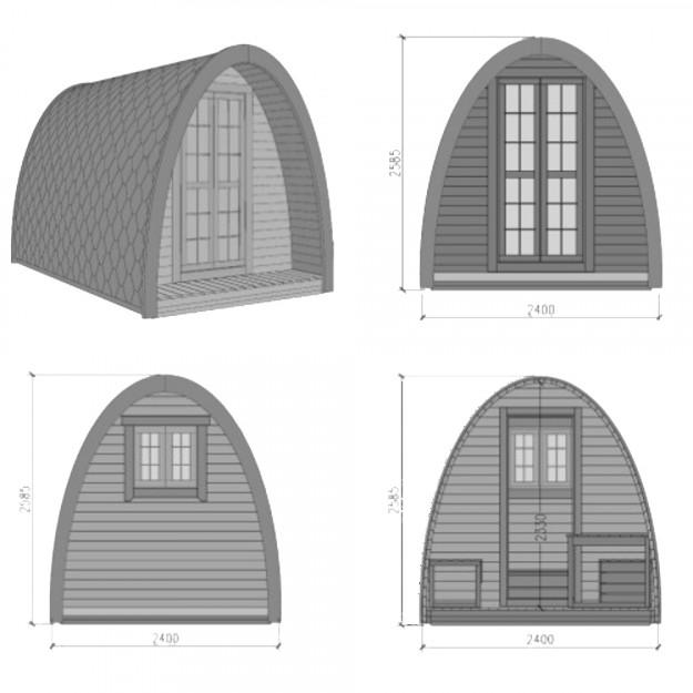 Dimensioni gazebo iglu 9,3mq