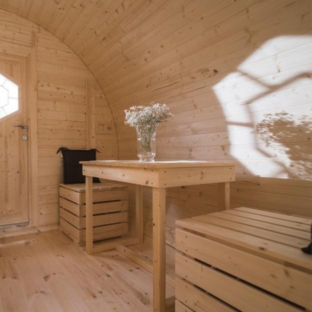 Gazebo in legno casetta da giardino bungalow 4 8x3m for Modello di casa bungalow