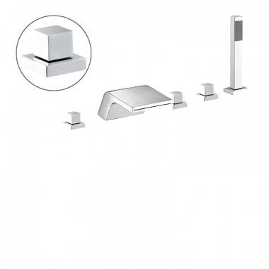 Set di Rubinetteria completo per vasche idromassaggio e vasche con sportello