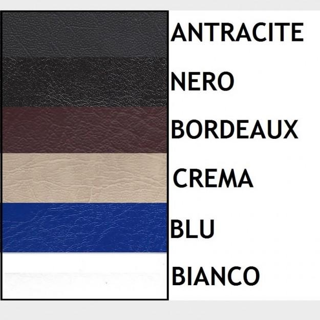 colori della copertura: antracite, nero, bianco, bordeaux, crema, blu