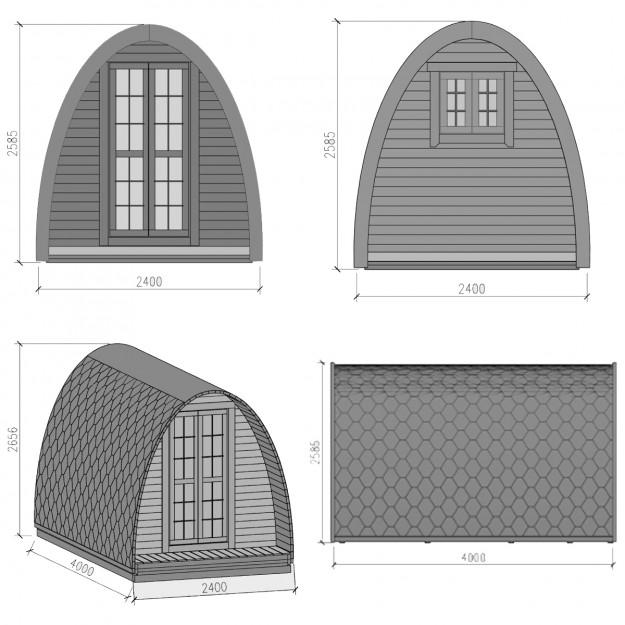 Dimensioni gazebo iglu in legno