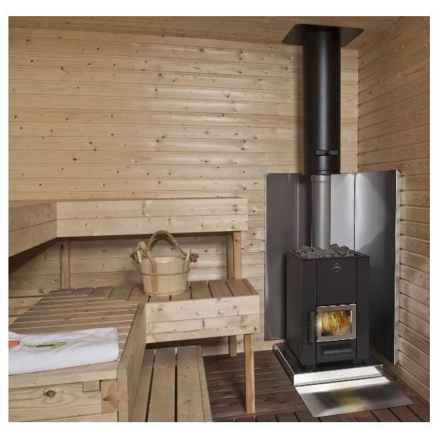 esempio di installazione di Stufa a legna NARVI