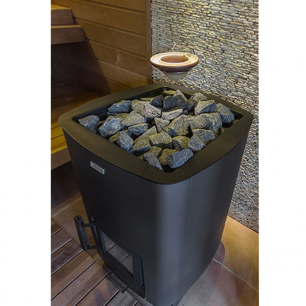 esempio di installazione Stufa a legna per sauna NARVI