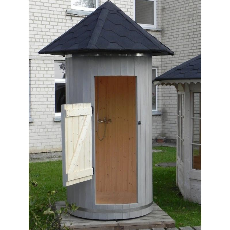 Cabina doccia da esterno in legno di abete ottimo prezzo - Doccia da esterno ...