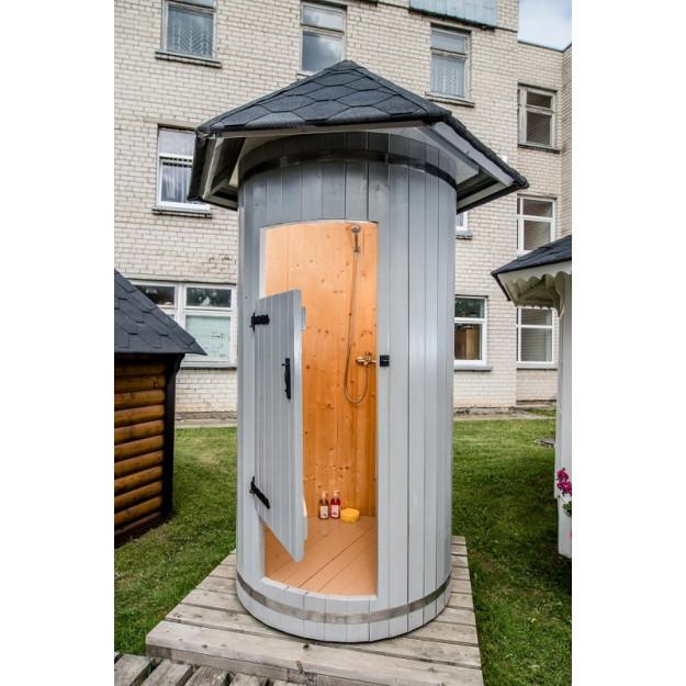 Cabina doccia da esterno in legno di abete ottimo prezzo - Doccia per esterno ...