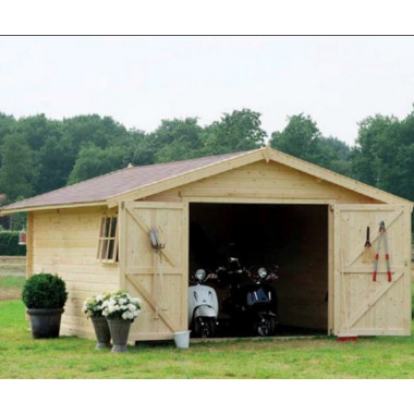 Garage box auto in legno di abete in due misure disponibili