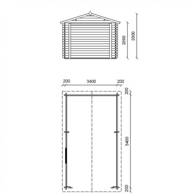 Dimensione 340x540 cm