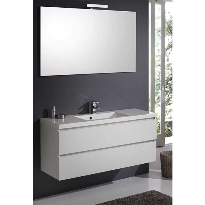 mobile bagno manny in rovere 120 cm con cassetti specchio liscio