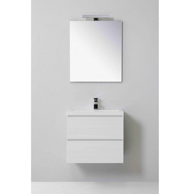 Composizione per bagno Manny 60 cm, con due ante, specchio e ...