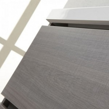 dettaglio cassetti grigio argilla