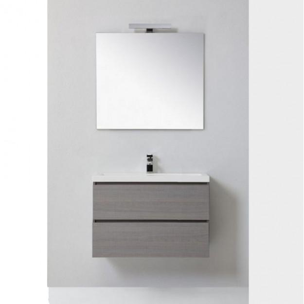 Mobile bagno MANNY in rovere color grigio argilla 80 CM CON CASSETTI