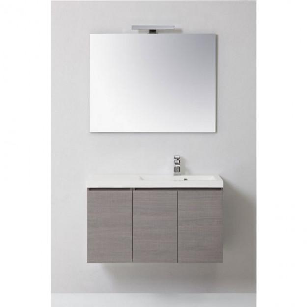 Mobile bagno manny in rovere con ante color bianco - Mobile rovere grigio ...