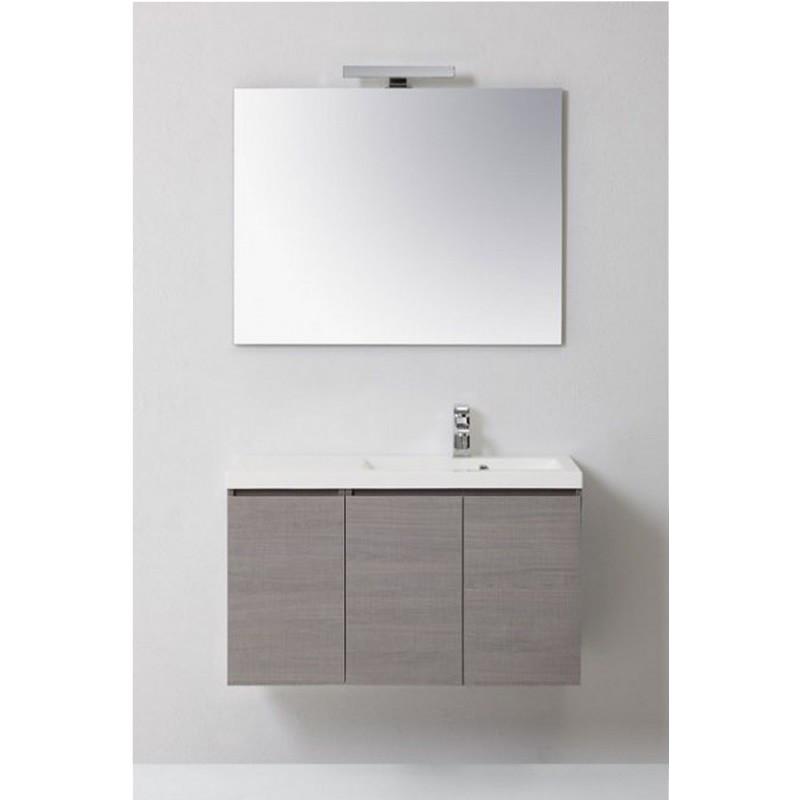 Composizione per bagno manny con ante specchio lavabo - Fai da te mobile bagno ...