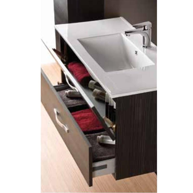 Set mobile bagno con lavabo e specchio con aplique e - Fai da te mobile bagno ...