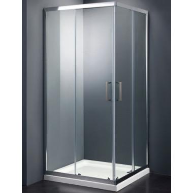 Chiusura doccia quadrata o rettangolare in vetro temprato con anta scorrevole