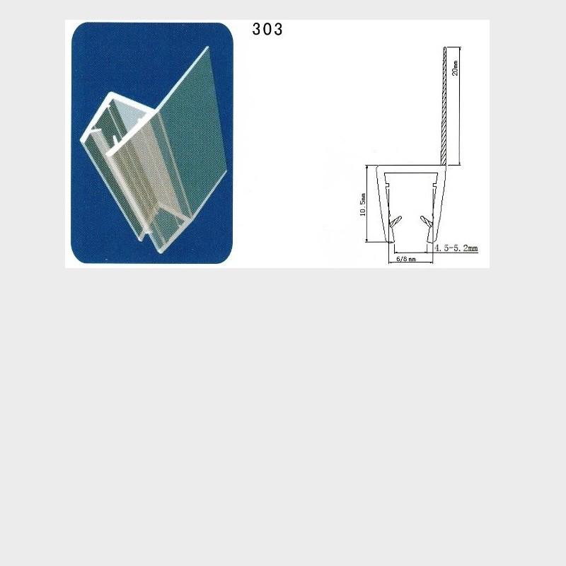 Coppia di guarnizioni in pvc per box doccia con vetro da 6 for Guarnizioni box doccia