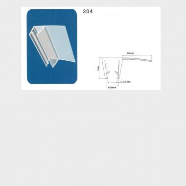 Coppia guarnizioni box doccia I-GUA-304 - 2 pezzi, 6 o 8 mm