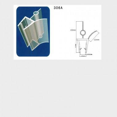 Guarnizione singola box doccia: I-GUA-306A - 1 pezzo 6 o 8 mm